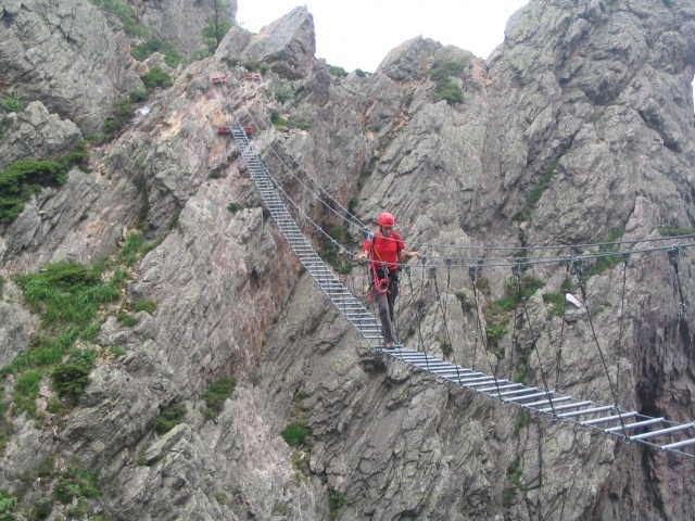 Il ponte tibetano della ferrata