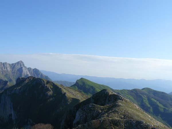 Cima nord del Monte Matanna, Monte Nona e Monte Croce